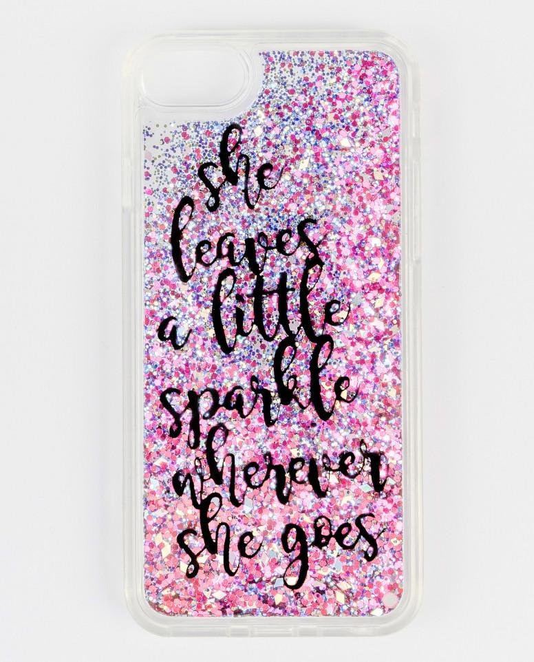 Розовый чехол для IPhone 6/6S/7/8 с глиттером Gulliver