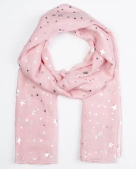 Купить со скидкой Розовый летний шарф