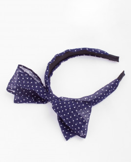 Blue dotted headband with a bow Gulliver