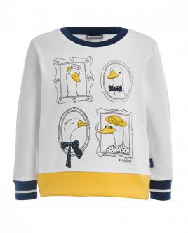 White fleece sweatshirt Gulliver