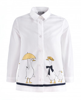 Белая блузка с декором OUTLET