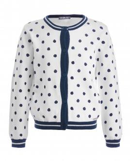 White dotted cardigan Gulliver
