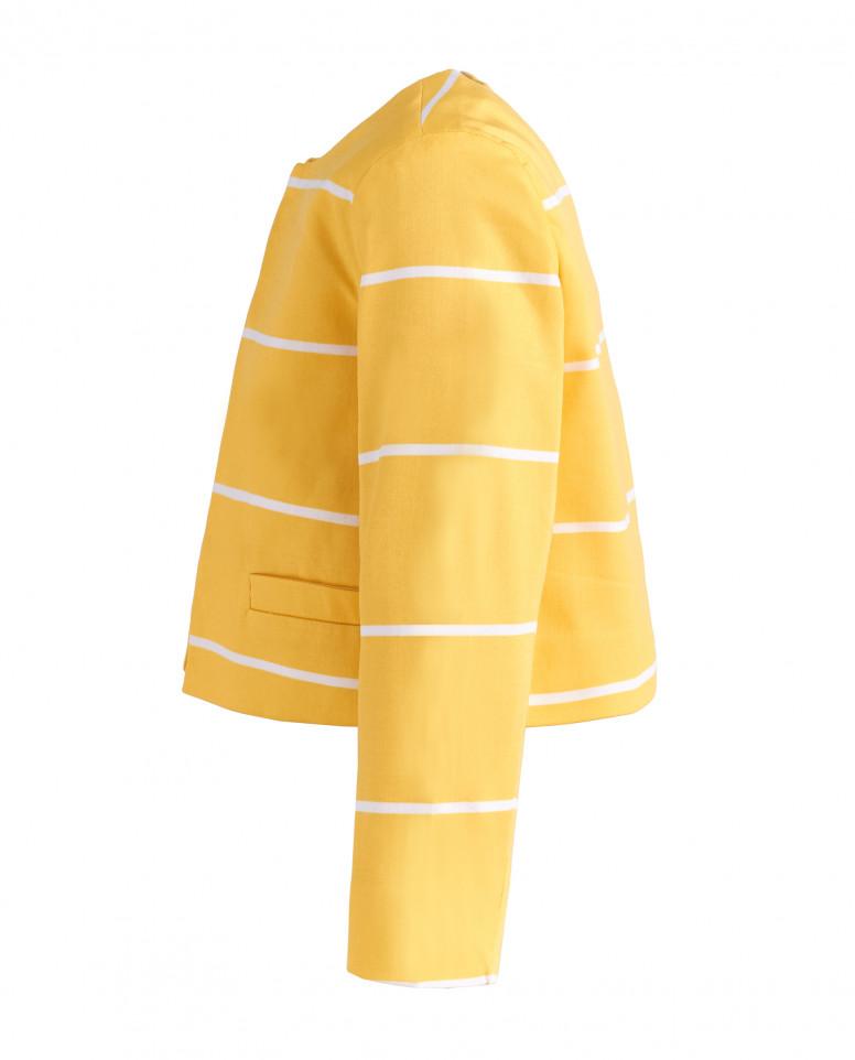 Желтый жакет в полоску