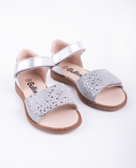 Silver leather sandals Gulliver