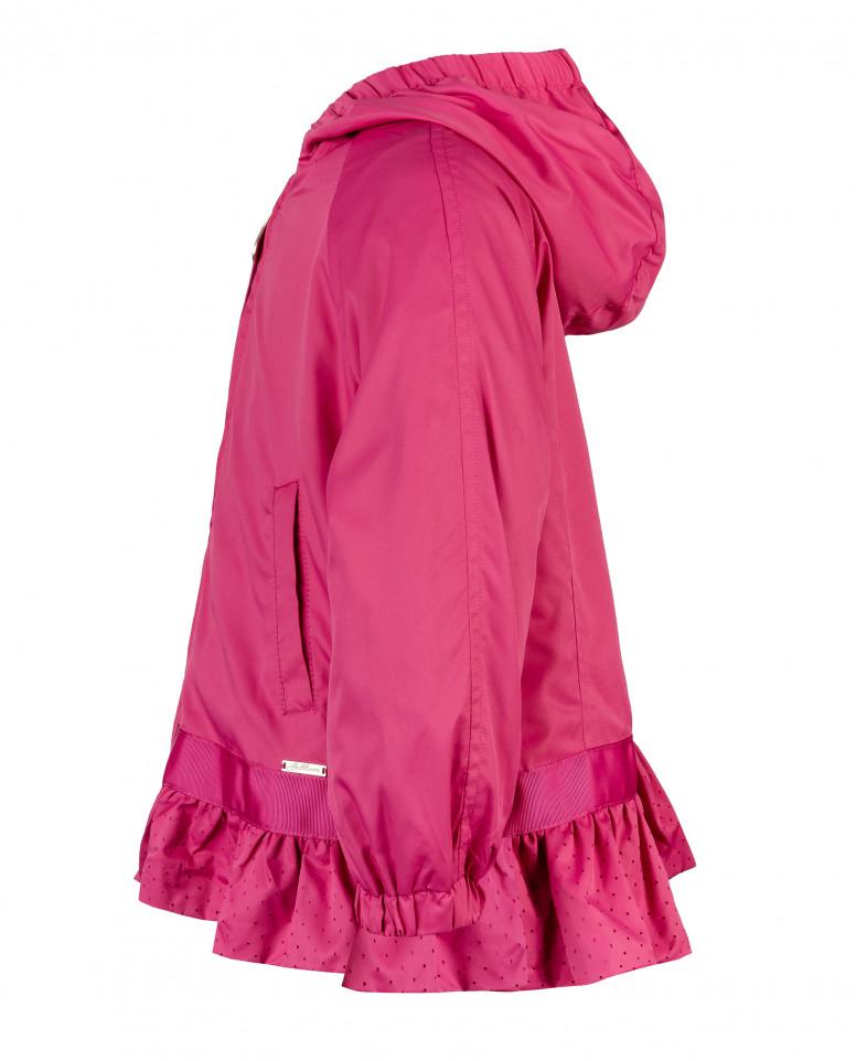 Розовая ветровка с баской