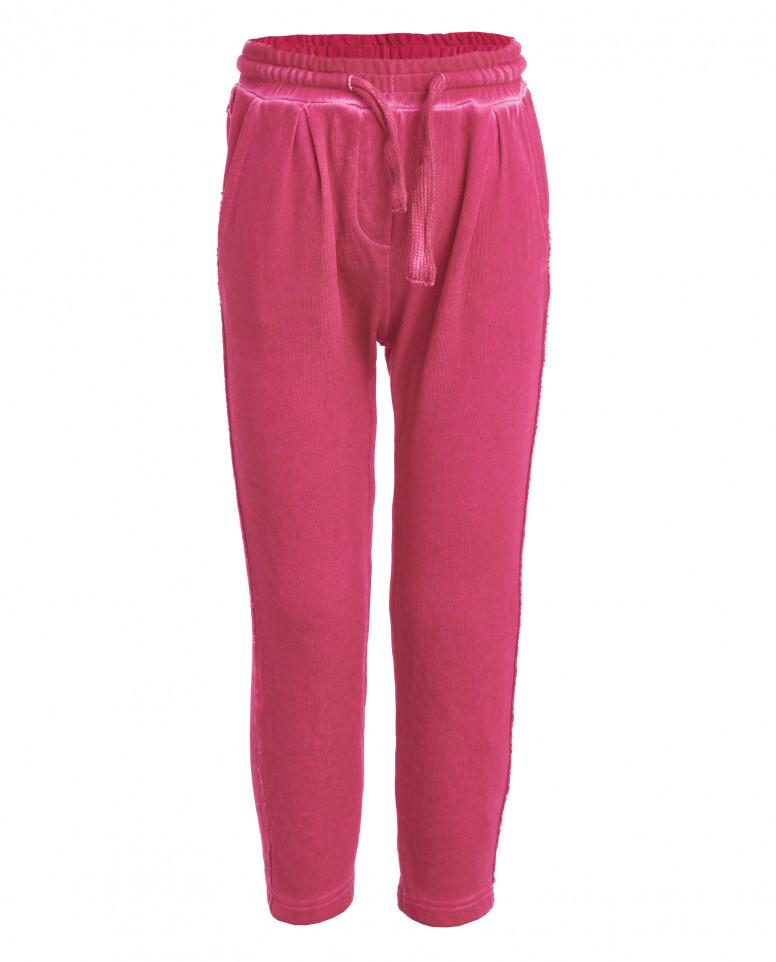 Розовые трикотажные брюки