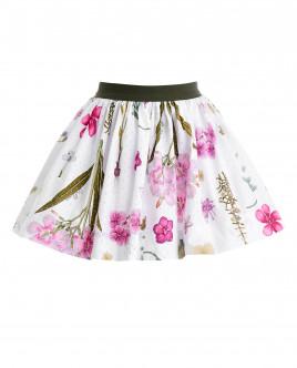 Пышная юбка с орнаментом Ирисы OUTLET