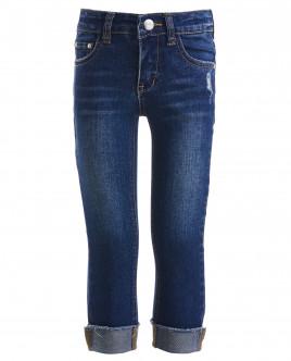 Синие джинсы с потертостями OUTLET