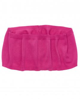Купить со скидкой Розовый вязаный воротник