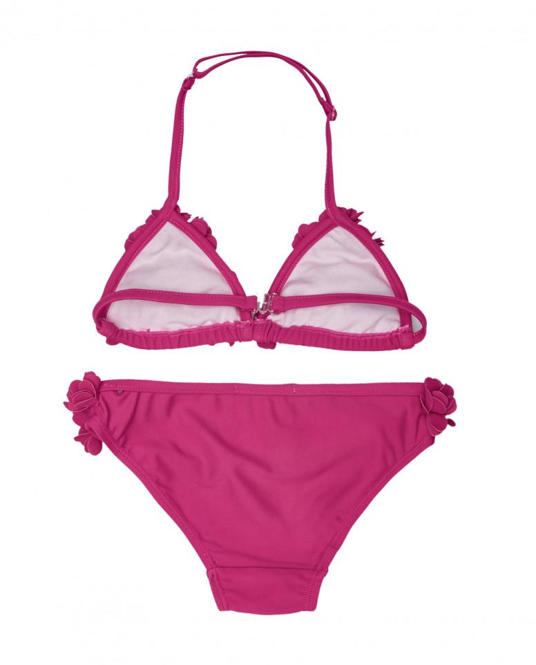 Розовый раздельный купальник