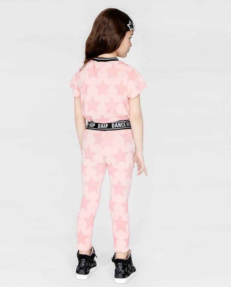 Розовые легинсы с орнаментом Звезды
