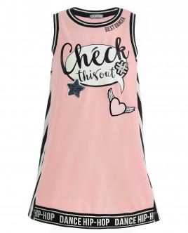 Розовое платье с декором OUTLET