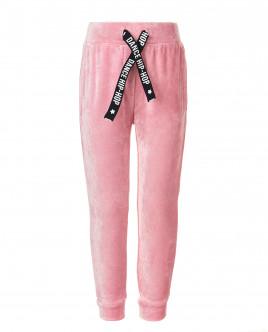 Розовые велюровые брюки OUTLET