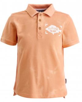 Оранжевое поло с декором OUTLET