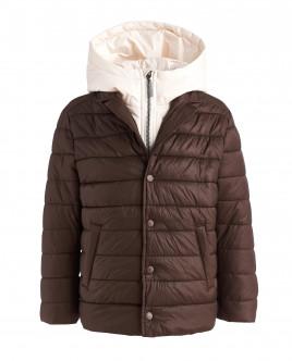 Коричневая стеганая куртка OUTLET