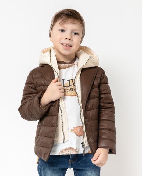 Коричневая стеганая куртка