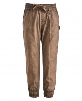 Коричневые брюки на резинке OUTLET