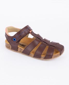 Коричневые кожаные сандалии Gulliver OUTLET