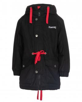 Черная куртка с контрастной отделкой OUTLET