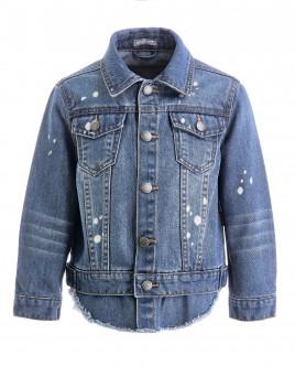 Голубая джинсовая ветровка Gulliver OUTLET