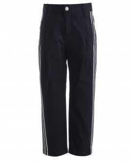 Черные брюки с лампасами Gulliver OUTLET