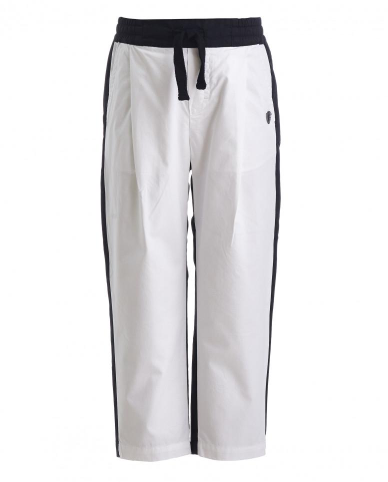 Двуцветные брюки на резинке