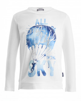 White long sleeve t-shirt Gulliver