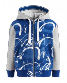 Gray and blue printed sweatshirt Gulliver