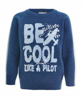 Blue knitted sweater Gulliver