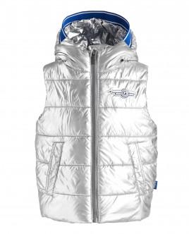 Warm silver vest Gulliver
