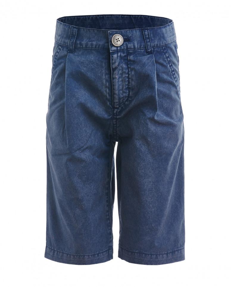 Синие шорты с винтажным эффектом