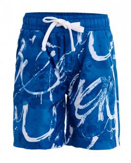 Blue ornate swim trunks Gulliver