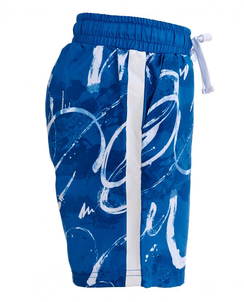 Синие плавательные шорты с орнаментом