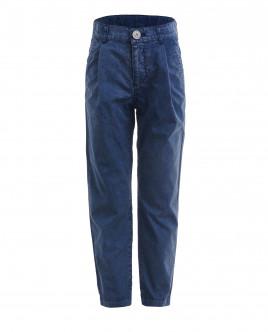 Синие брюки с винтажным эффектом OUTLET
