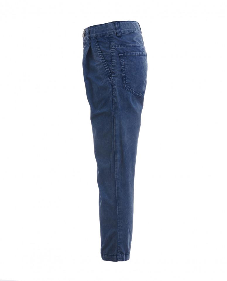Синие брюки с винтажным эффектом