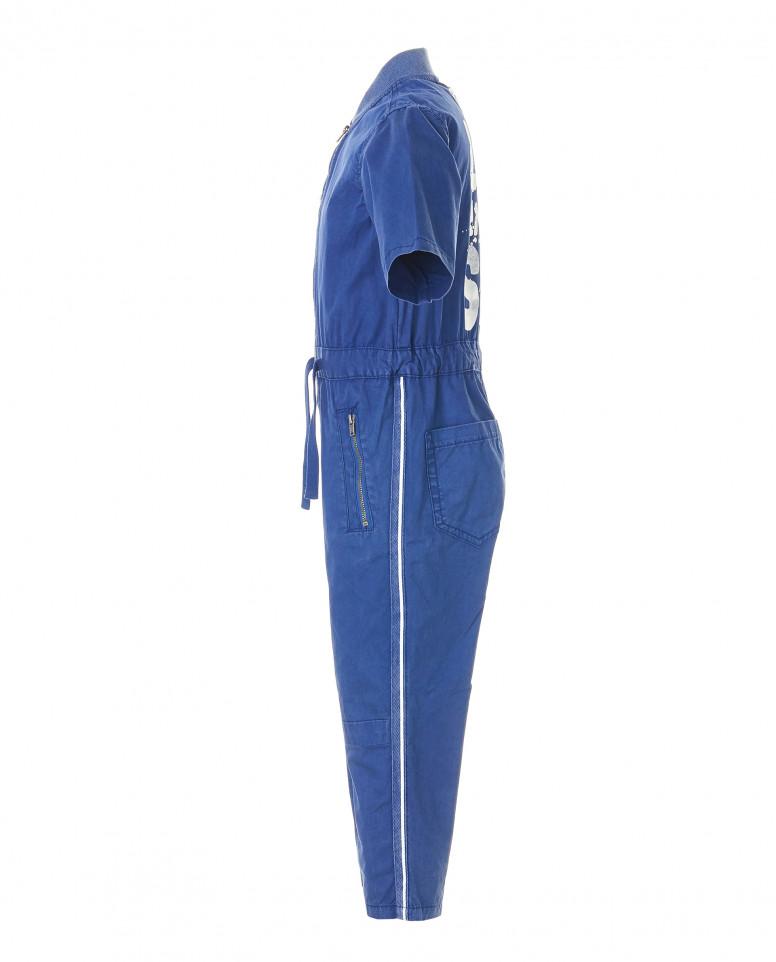 Синий комбинезон с принтом