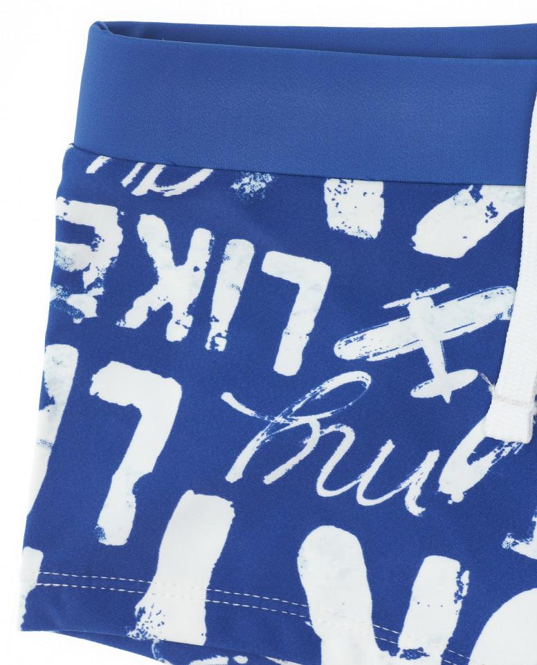 Синие плавки-боксеры с орнаментом