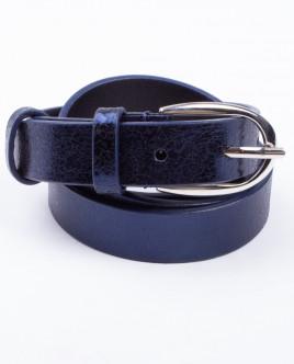Синий кожаный ремень Gulliver OUTLET