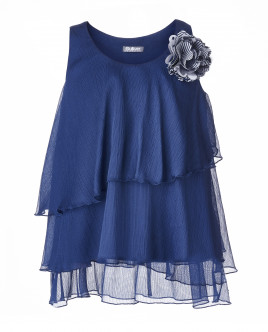 Синяя блузка с декором OUTLET