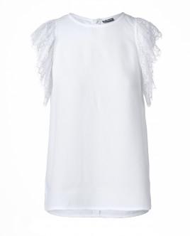 Белая блузка без рукавов OUTLET