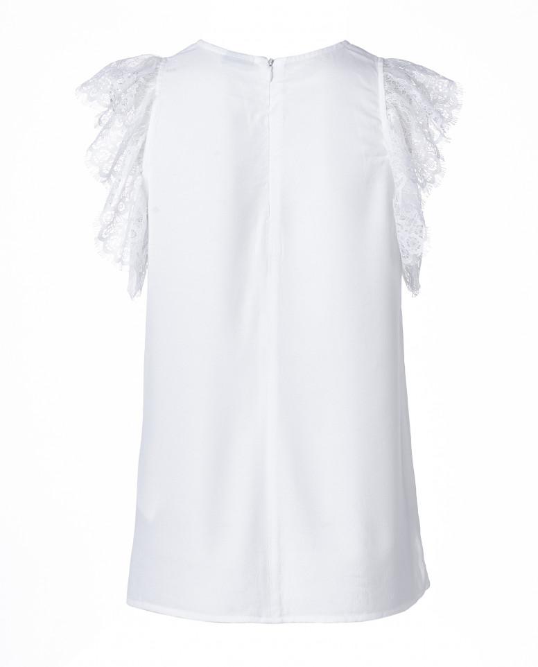 Белая блузка без рукавов