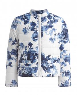 Белая куртка с орнаментом Синие розы OUTLET