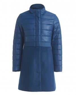 Синее демисезонное пальто OUTLET