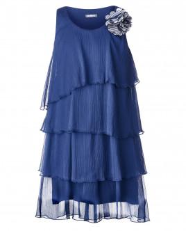 Синее платье с декором OUTLET