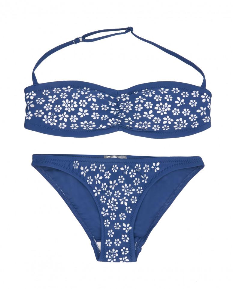 Синий раздельный купальник