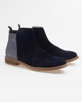 Синие замшевые ботинки Gulliver OUTLET