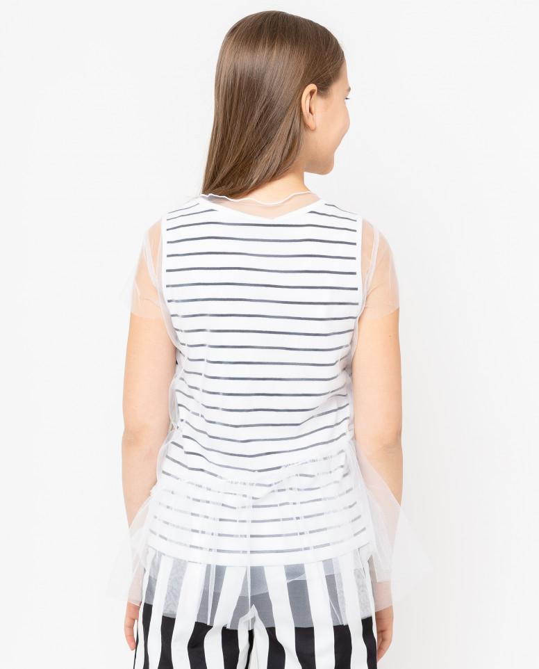 Комплект из майки и футболки из сетки