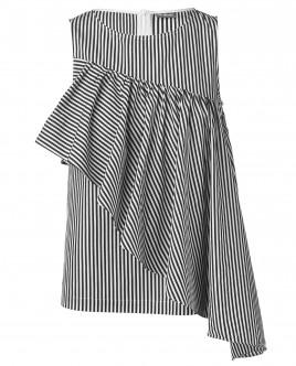 Блузка с ассиметричным рюшем OUTLET