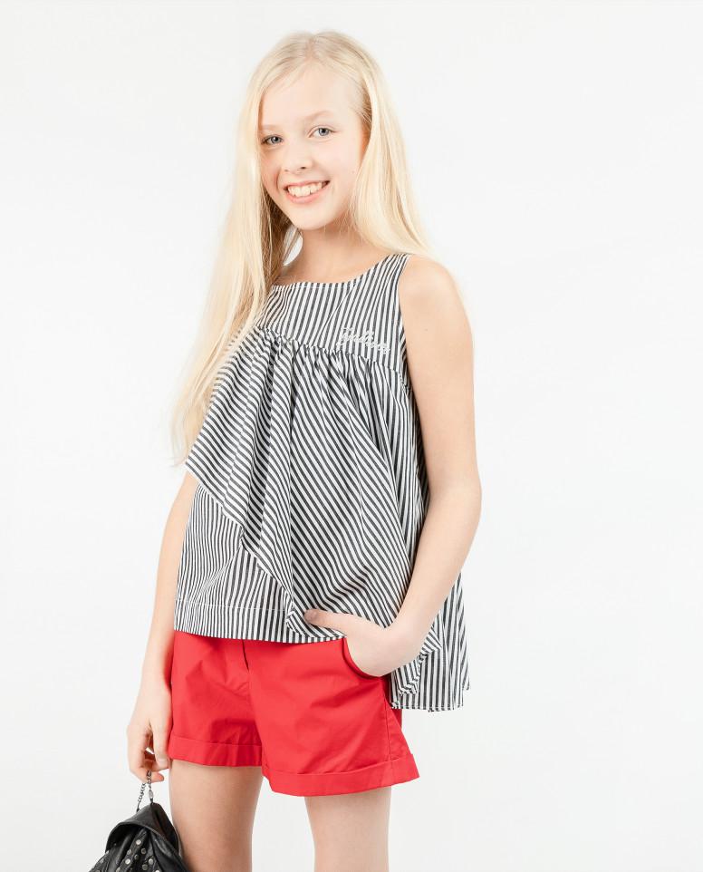 Блузка с ассиметричным рюшем