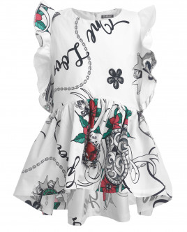 Блузка с цветочным принтом OUTLET